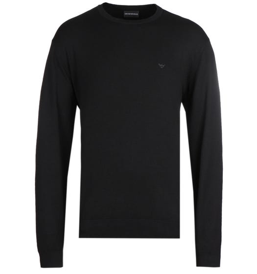 Emporio Armani Crew Neck Black Knitted Sweater
