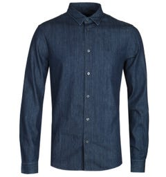 Armani Exchange Slim Fit Dark Navy Denim Shirt
