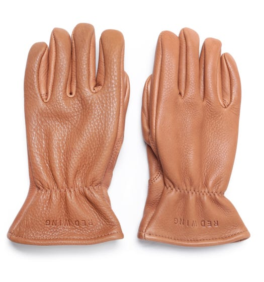 Red Wing Lined Nutmeg Leather Gloves