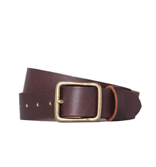 Red Wing Amber Brown Leather Belt