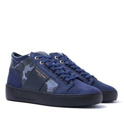 Android Homme Camo Suede Propulsion Mid Navy Trainers