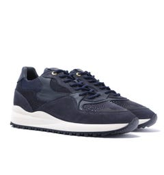 Android Homme Santa Monica Navy Stingray Suede Trainers