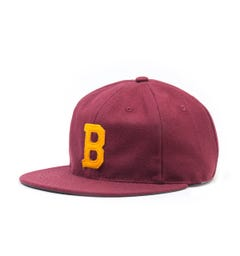 Ebbets Field Flannel Brooklyn College 1959 Vintage Burgundy Cap