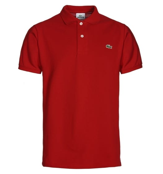 Lacoste L1212 Red Classic Fit Pique Polo Shirt