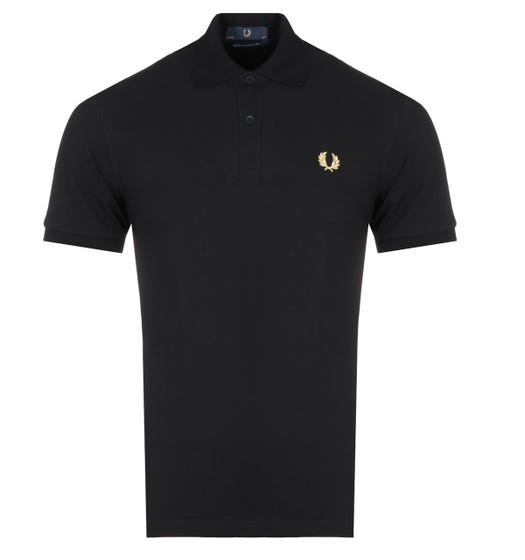 Fred Perry M3 Made In England Black Polo Shirt