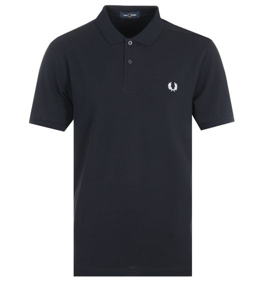 Fred Perry Plain Polo Shirt - Navy