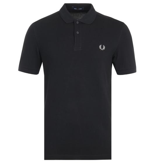 Fred Perry Plain Polo Shirt - Black