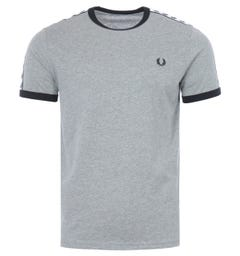 Fred Perry Taped Ringer T-Shirt - Steel Marl