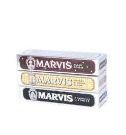 Marvis Toothpaste Set Orange Blossom Bloom, Black Forest & Amarelli Liquorice