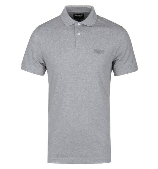 Barbour International Grey Marl Short Sleeve Polo Shirt