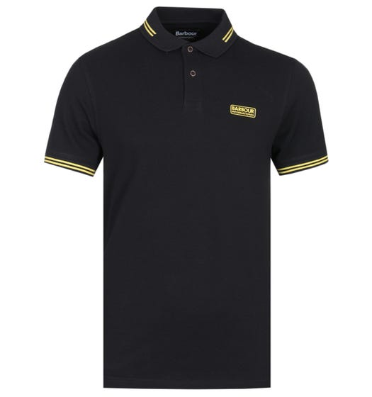 Barbour International Essential Black Tipped Polo Shirt