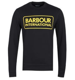Barbour International Large Logo Black Sweatshirt