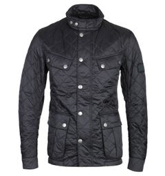 Barbour International Black Quilted Motorcycle Jacket