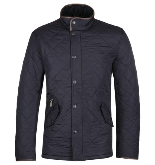 Barbour Powell Navy Quilted Jacket