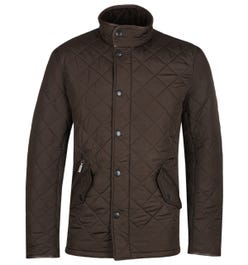Barbour Powell Olive Quilted Jacket