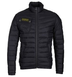 Barbour International Chain Baffle Black Quilted Jacket