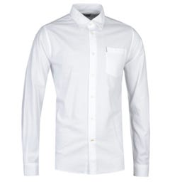 Barbour Oxford 1 Tailored Fit Long Sleeve White Shirt