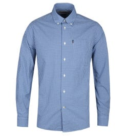 Barbour Gingham 2 Tailored Fit Long Sleeve Blue Check Shirt