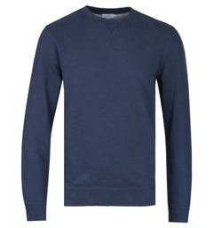 Sunspel Navy Melange Loopback Sweatshirt
