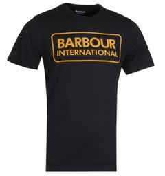 Barbour International Tailored Fit Black Essential Logo T-Shirt