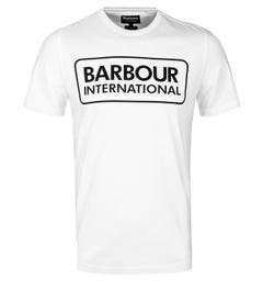 Barbour International White Essential Logo T-Shirt