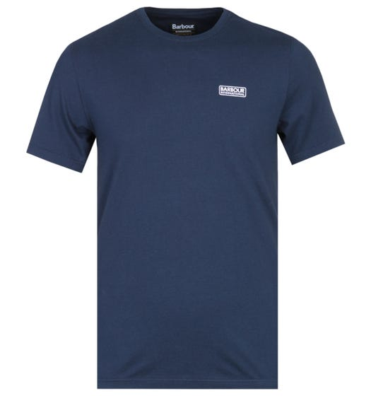 Barbour International Dark Navy Short Sleeve Logo T-Shirt
