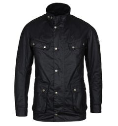 Barbour International Duke Black Wax Cotton Jacket