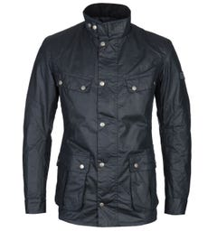 Barbour International Duke Dark Navy Wax Jacket