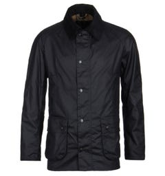 Barbour Ashby Navy Wax Jacket