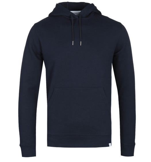 Norse Projects Vagn Hooded Sweatshirt - Dark Navy