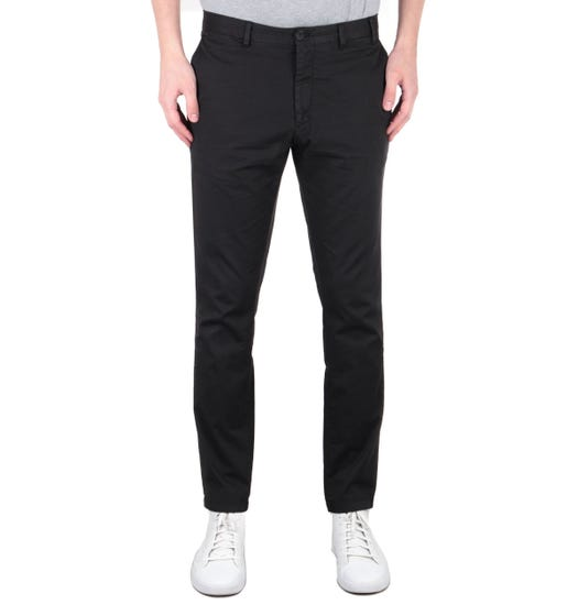 Norse Projects Aros Slim Stretch Chinos - Black