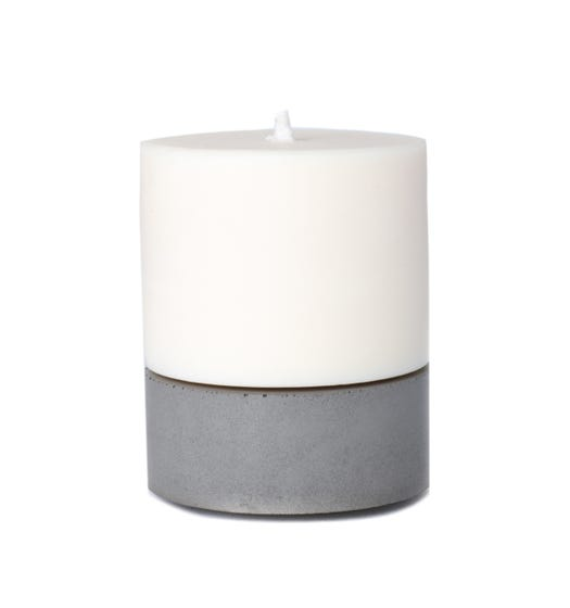 Concrete & Wax Large Set Grey & Tobacco Candle