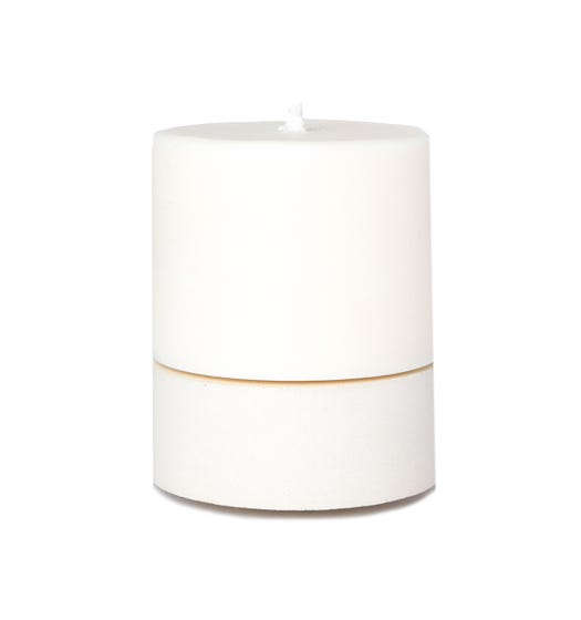 Concrete & Wax Large Set White & Lime Candle