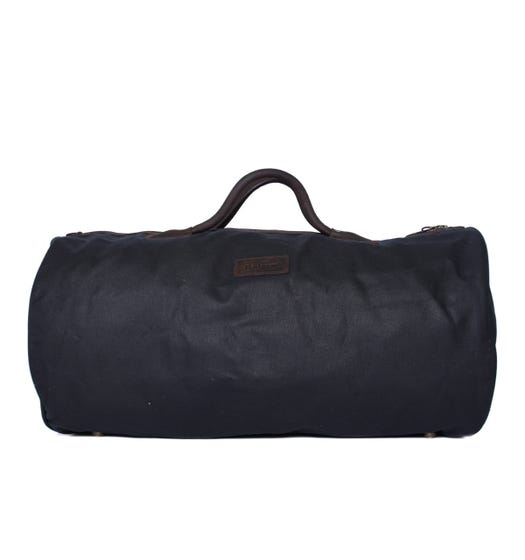 Barbour Navy Wax Holdall