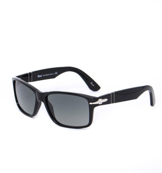 Persol Reflex Edition Black Acetate Sunglasses