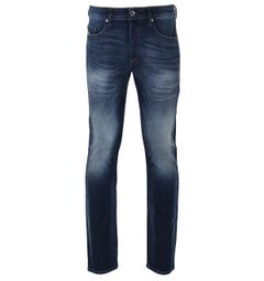 Diesel Mid Blue Wash Slim Tapered Buster Jean