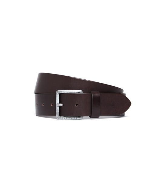 BOSS Jeeko Brown Leather Belt