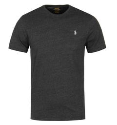 Polo Ralph Lauren Custom Slim Fit Black Marl Short Sleeve T-Shirt