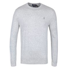 Polo Ralph Lauren Grey Slim Fit Knitted Pima Cotton Crew Neck Sweater
