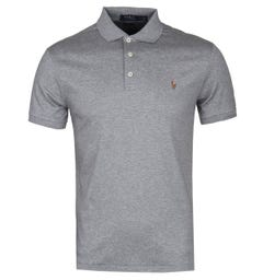 Polo Ralph Lauren Grey Pima Cotton Slim Fit Polo Shirt