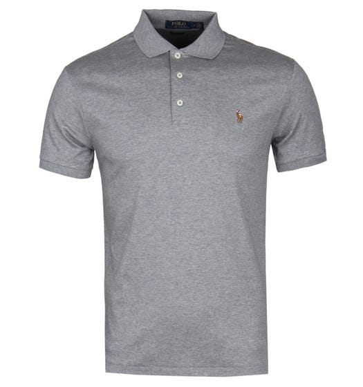 Polo Ralph Lauren Pima Cotton Slim Fit Polo Shirt - Grey