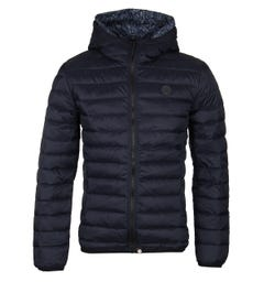 Pretty Green Black Lightweight Quilted Hooded Jacket