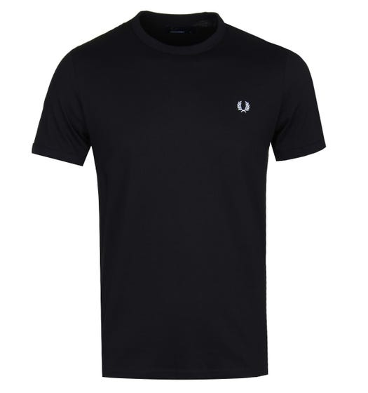 Fred Perry Ringer T-Shirt - Black