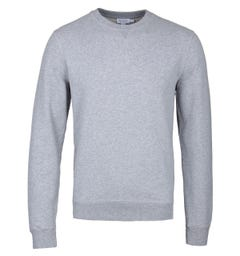 Sunspel Grey Melange Loopback Sweatshirt