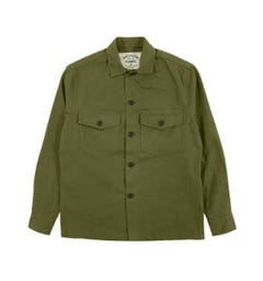 Portuguese Flannel Army Shirt Green