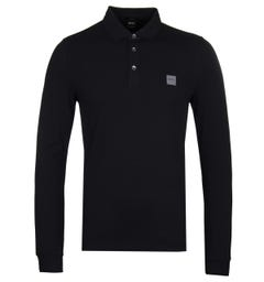 BOSS Passerby Slim Fit Jet Black Polo Shirt
