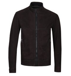 BOSS Buffalo Leather Brown Jacket