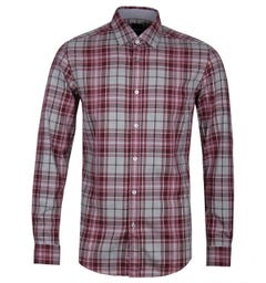 BOSS Lukas_51 Brushed Flannel Pink Check Shirt