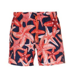 BOSS Threadfin Star Fish Print Swim Shorts