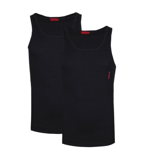 HUGO 2 Pack Black Tank Tops